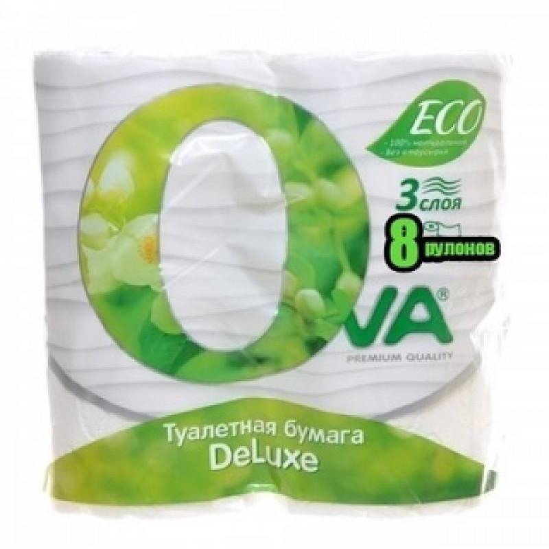 "Туалетная бумага ""Ova"" 3 слоя 8шт"