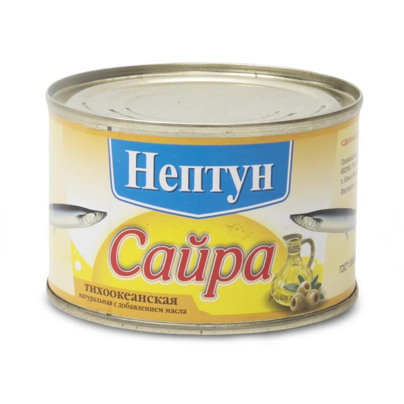 Сайра натуральная Нептун  240 гр.