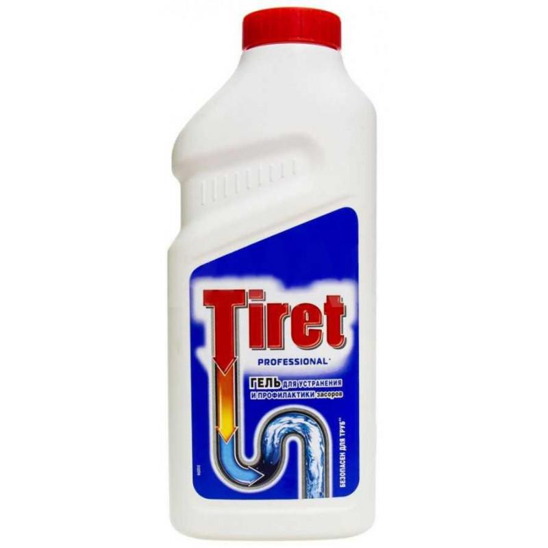 Средство для очистки труб и сливов Tiret professional 465 мл