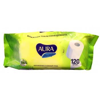 Влажная туалетная бумага Aura ultra comfort 120 шт.