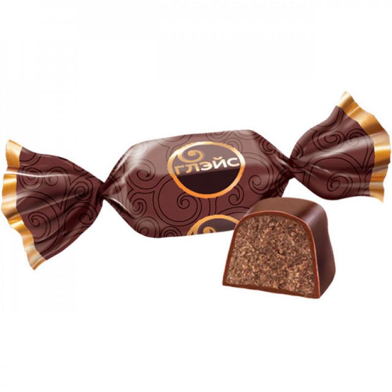 Шоколадные конфеты Яшкино Глэйс с шоколадным вкусом 1кг