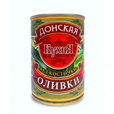 Оливки Донская кухня зеленые без косточки, 280 гр