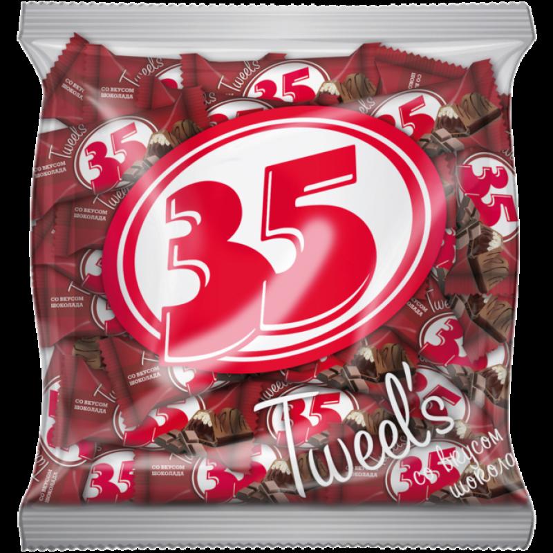 Шоколадные конфеты 35 Tweels со вкусом шоколада 500 г